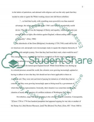 American History to 1877 essay example