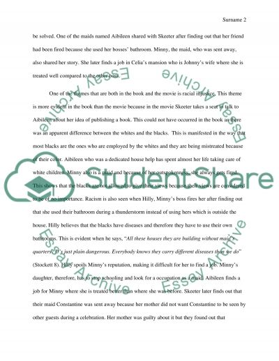Comparison/Contrast Essay on the Book and Movie The Help