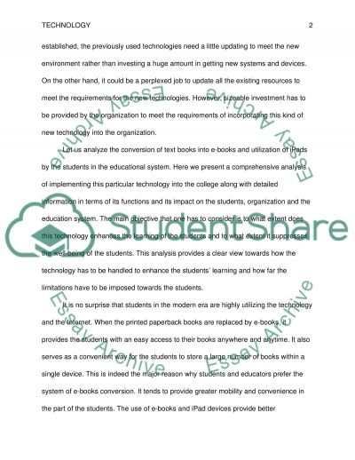 The Role of Technology in College essay example