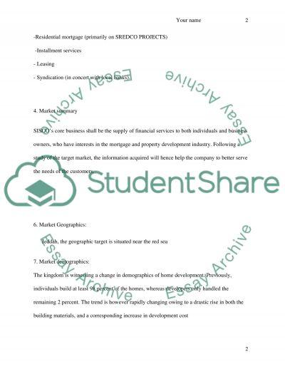 SISCO Marketing Plan essay example