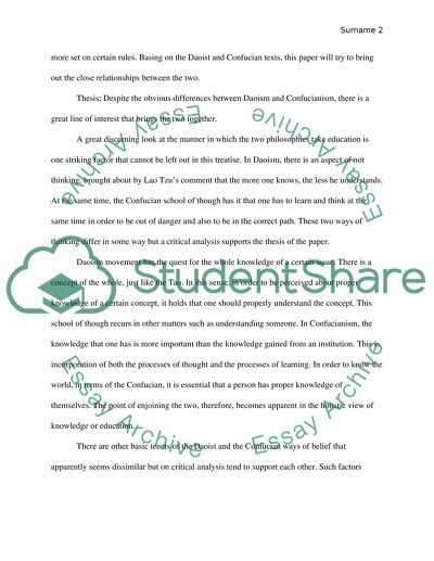 Essay In English Language Daoism And Confucianism In Writing The Yellow Wallpaper Essay Topics also Examples Thesis Statements Essays Daoism And Confucianism In Writing Essay Example  Topics And Well  Essay On Cow In English