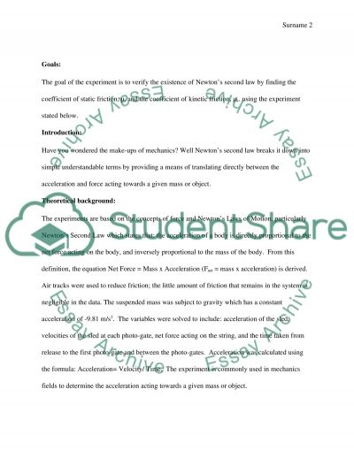 Friction essay example