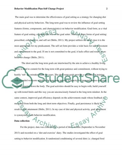 behavior modification plan case study example topics and well  behavior modification plan essay example