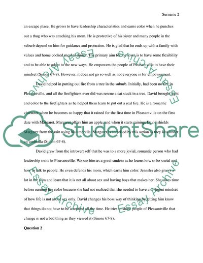 Critical Analysis Of Pleasantville Film Essay Example Topics And Well Written Essays 1500 Words