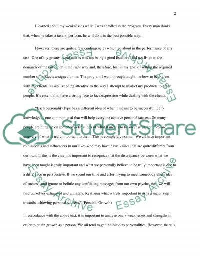 Executive leadership personal growth essay example
