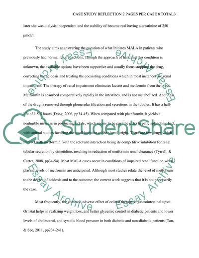 Case study reflection 2 pages per case 8 total