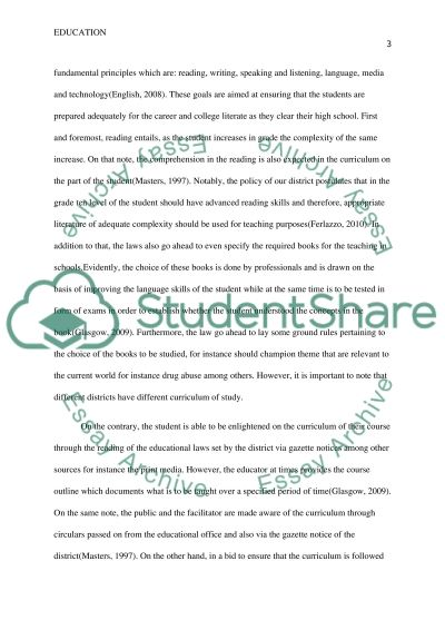 Strengthening the effectiveness of curriculum