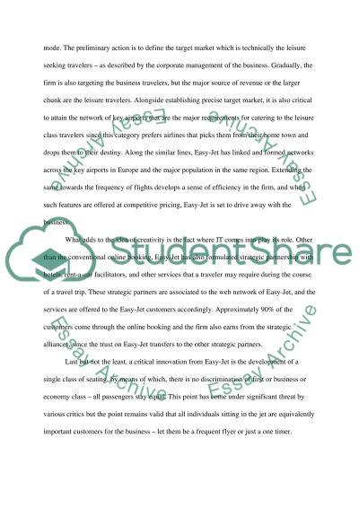 Easyjet essay example