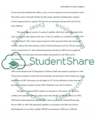 The History and the Future of GPS essay example