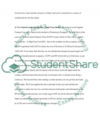 Contract Law in UK essay example