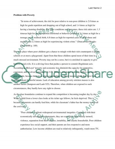 Why poverty should be more aware in schools essay example