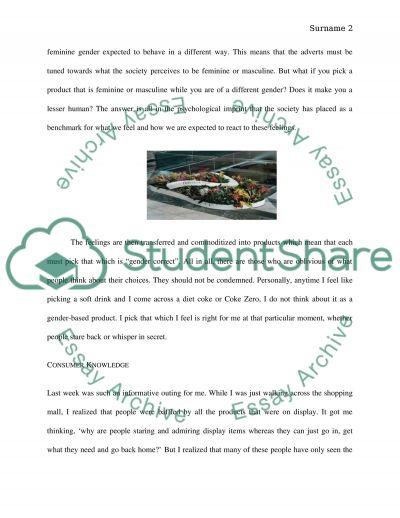 Consumer Behavior Blog essay example