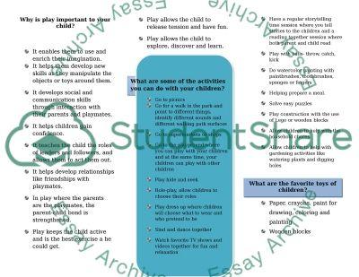 Parent-Child Interaction essay example
