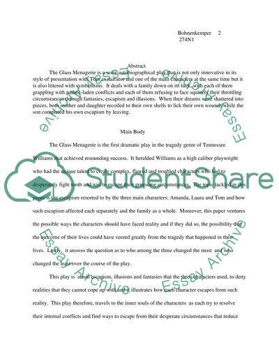 The Glass Menagerie College Book Report/Review