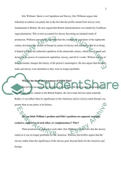 The Atlantic Slave Trade essay example