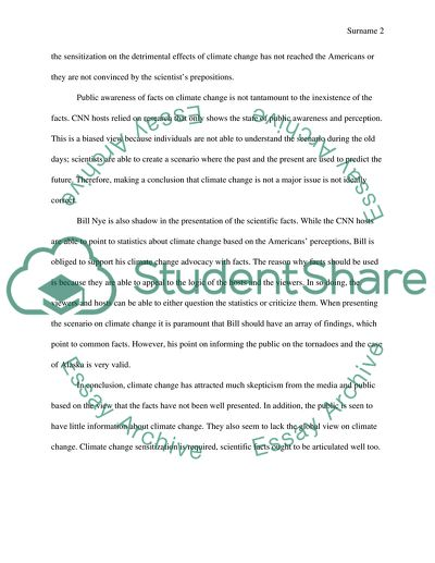 Climate Change Article Essay
