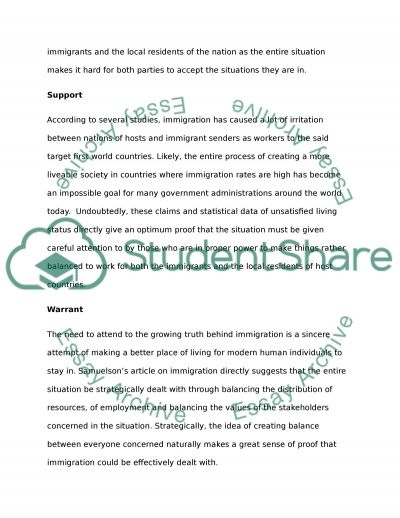 The Hard Truth of Immigration essay example