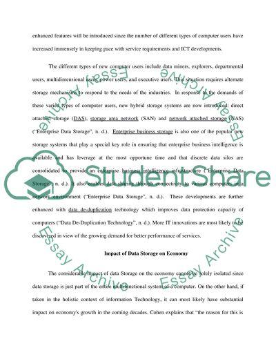 Information storage and handling essay