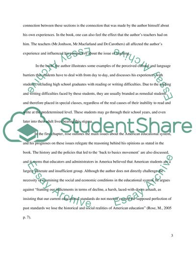 Critical Reading Reflection Essay Example