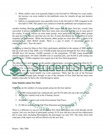 The New Deal for 18-24 year olds (New labour deal) essay example