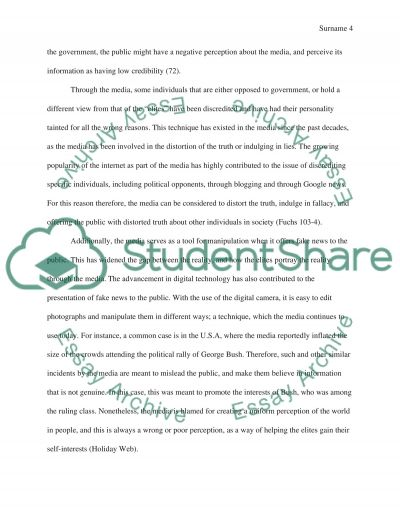 media manipulation essay example topics and well written essays  media manipulation essay example text preview