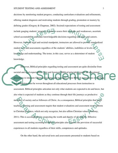 The Controversial Issue of Student Testing and Assestment