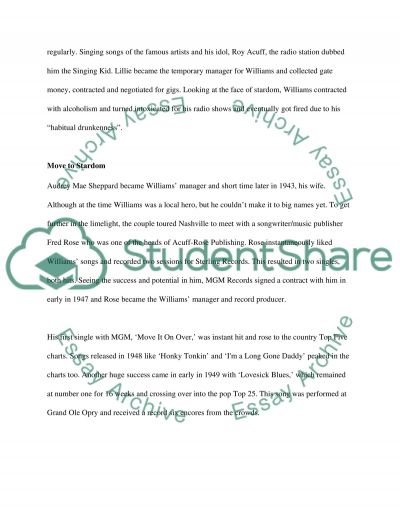 Hank williams Sr essay example