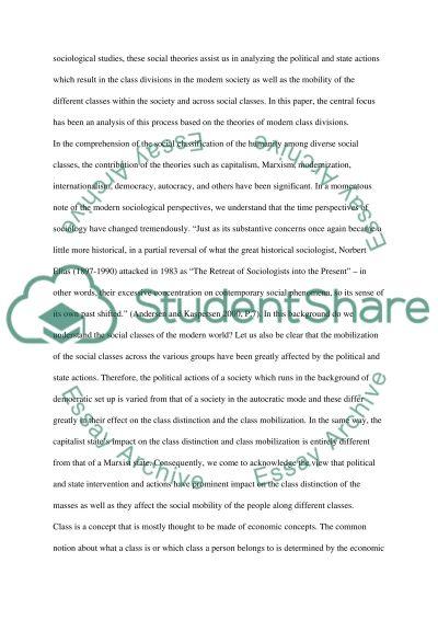 Social Class Master Essay essay example