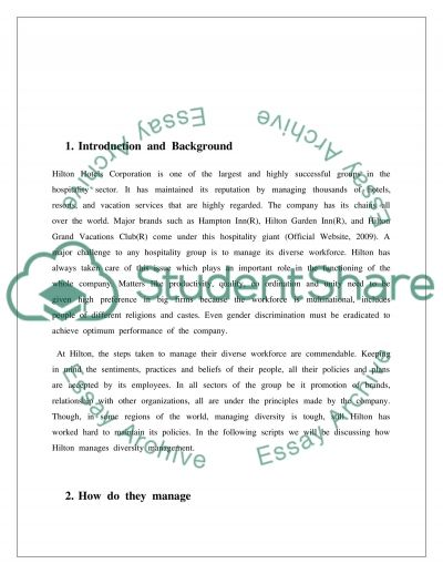 Diversity Management in Hospitality Management essay example