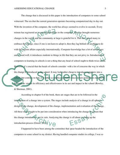 Assessing Educational Change