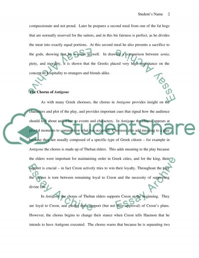Homer, Shakespeare and Sophocles essay example