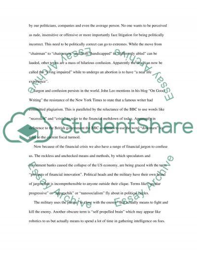 George Orwell and John Leo Essays essay example