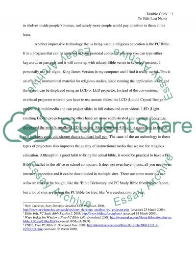 Religious Education essay example
