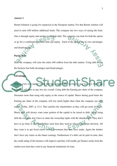 Finance for non finance managers essay example