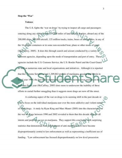 Your opinion of the war against drugs (illegal drugs) essay example