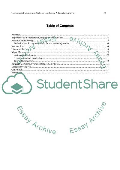 Exploratory Literature Research Paper essay example