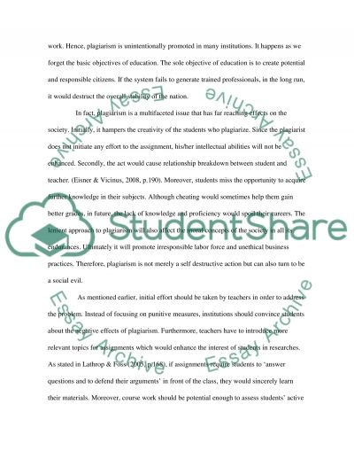 Plagiarism (research-effects, causes, solutions)