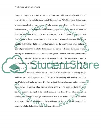 Marketing Communications: Written Assignement Essay example