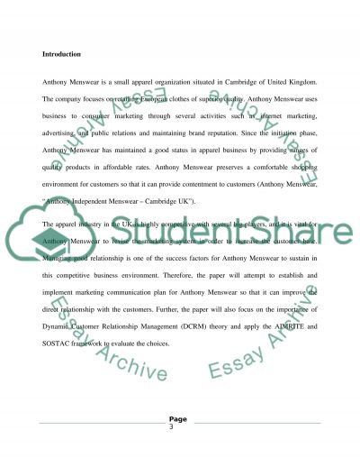 Direct and marketing communication essay example