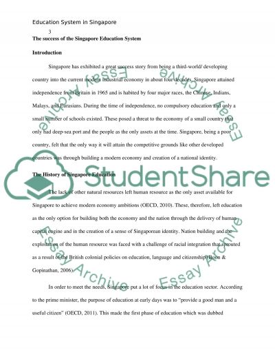 The success of the Singapore Education System essay example