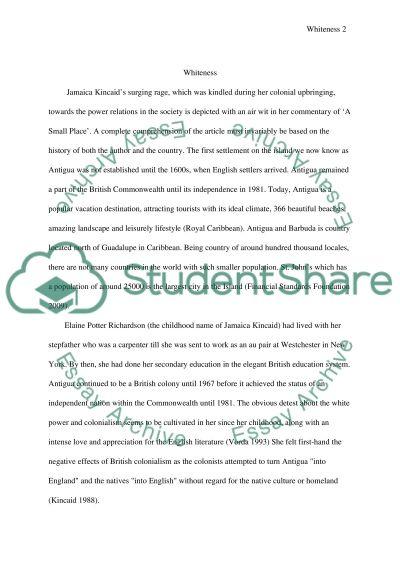 Jamaica Kincaid essay example