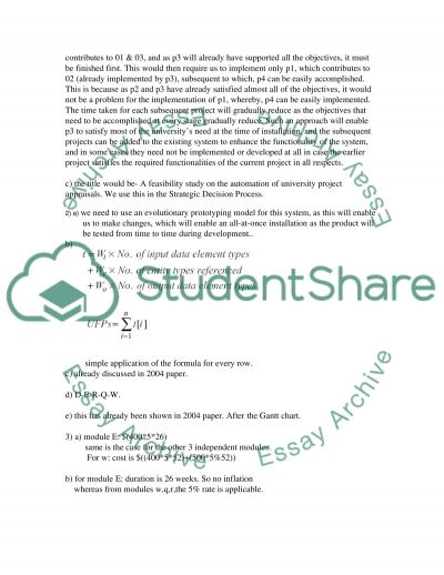 Project Proposals Essay example