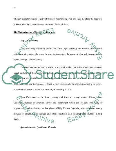 Market research and market evaluation essay example