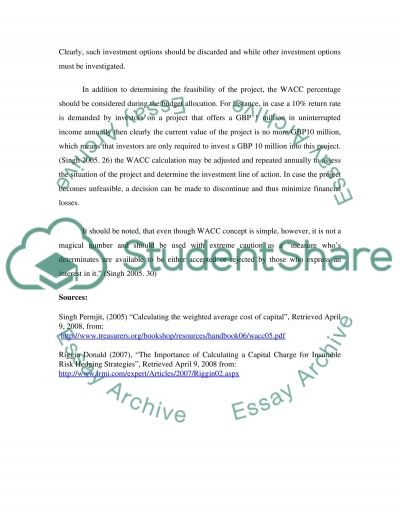 The Impact of WACC on Capital Budgeting and Structure essay example