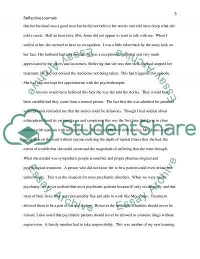 Psychiatric Nursing Reflective Journals