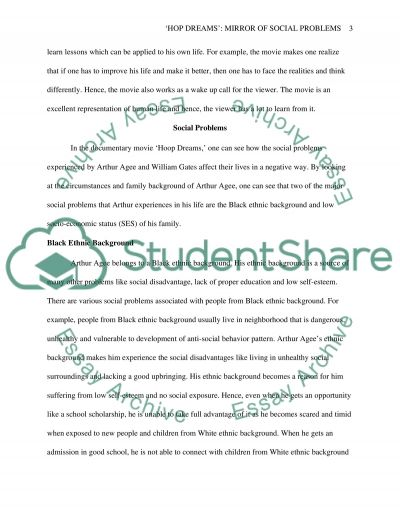 Movie Reaction Paper on Hoop Dreams essay example