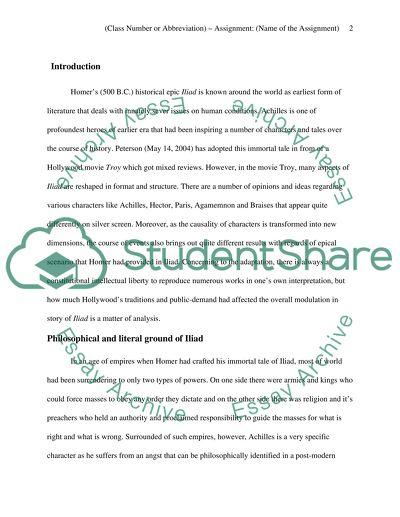 hector vs achilles essay