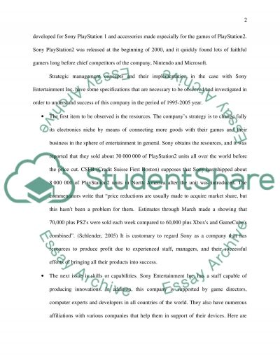 Success and Strategies of Sony 1995 to 2005 essay example