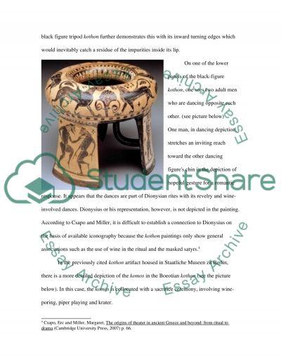 Boeotian black figure tripod kothon essay example