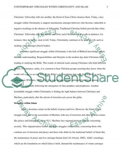Contemporary Struggles Within Christianity and Islam essay example